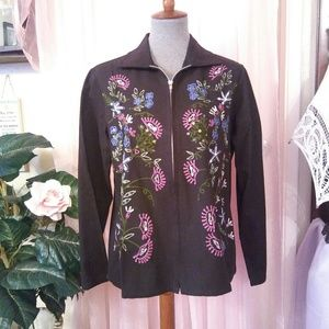 New Lovely Black Jacket w/Embroidery